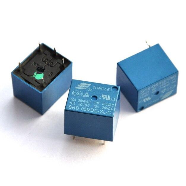 ( 5 Pcs/lot )  5V SPDT Relay, 250V AC/30V DC, 10 Amp