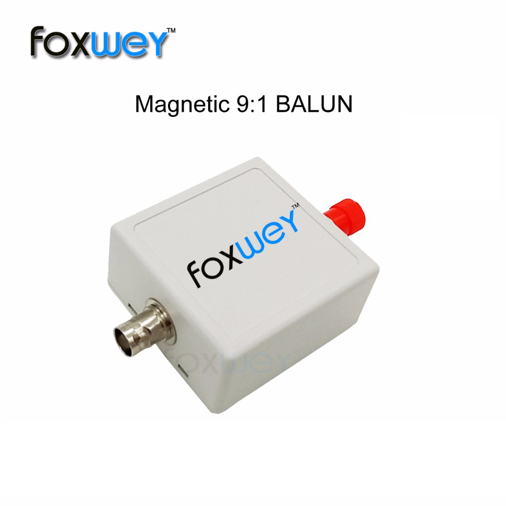 Balun One Nine - Tiny Low-Cost 1:9 HF Antenna Balun with Antenna Input Protection for Ham It Up, SDR and Many Other Applications