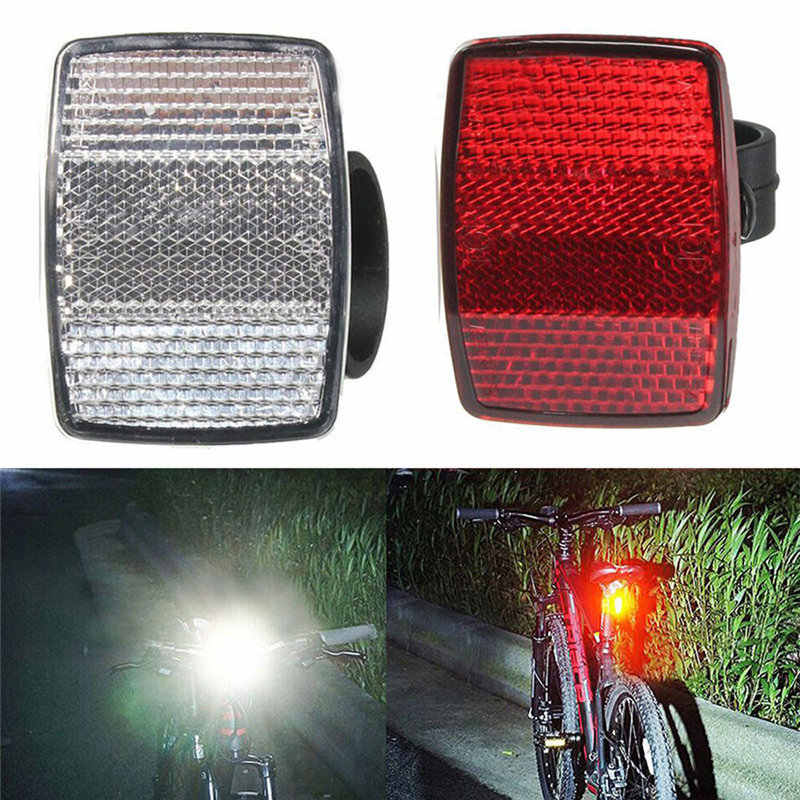 New Bike Lights Handlebar Mount Safe Reflector Bicycle Bike Front Rear Warning Red / White bike accessories wholesale Outdoor 7