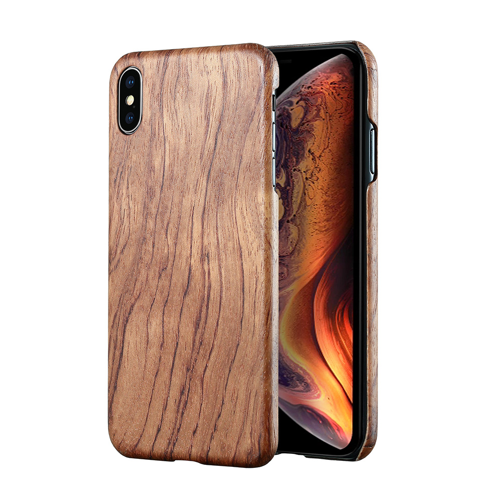Image 4 - For Apple iPhone 11 Pro X XS Max XR walnut Enony Wood Rosewood MAHOGANY Wooden Back Case CoverFitted Cases   -