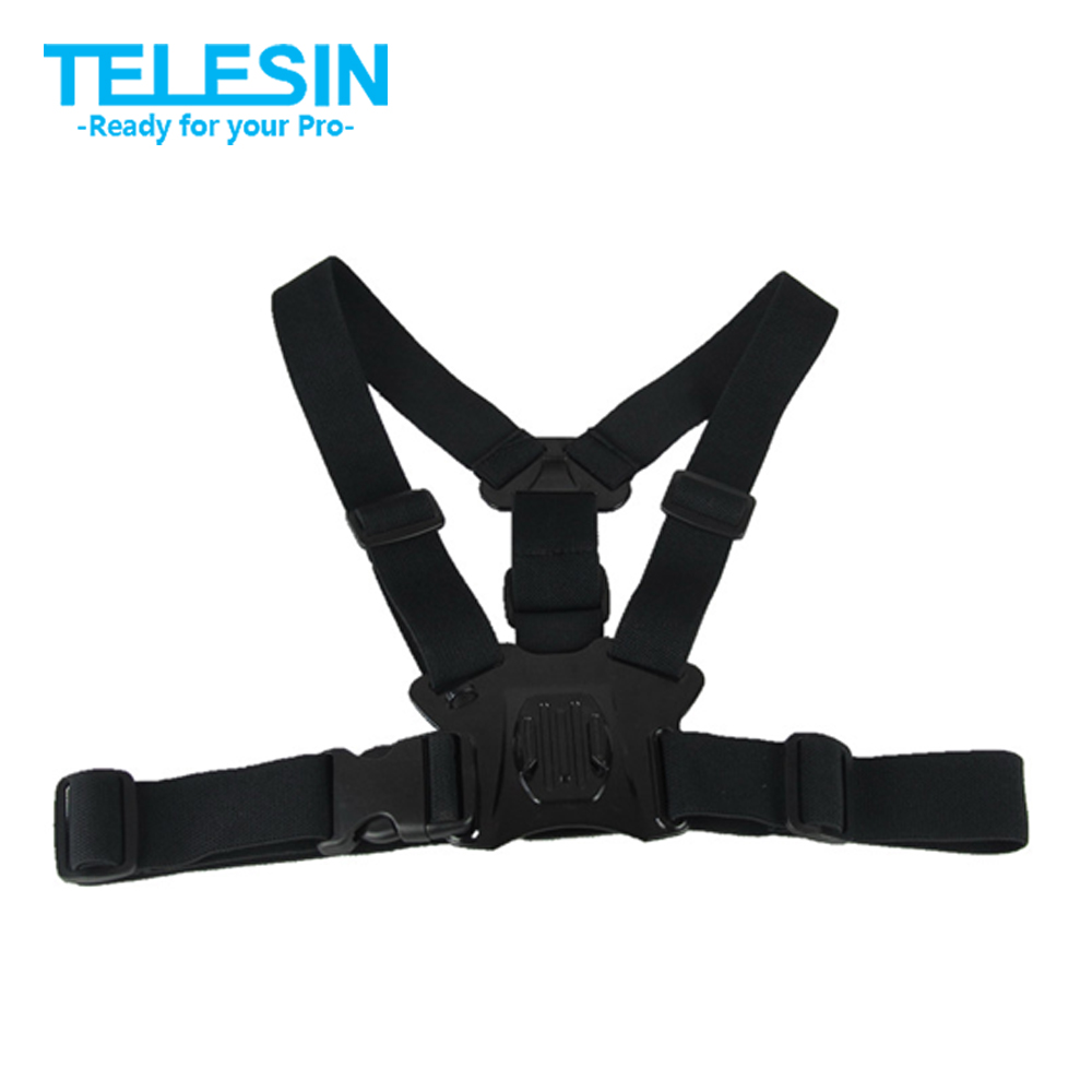 TELESIN Chest Belt Harness Strap Mount Chesty Strap for GoPro Hero 6 Hero 5 4 3 2 Xiaomi Yi 4K Mijia 4K SJCAM EKEN Accessories