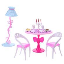 21pcs Set Doll Candlelight Dinner Tools for Barbies 29cm Doll Mini Kitchen Tableware Furniture Children Girl