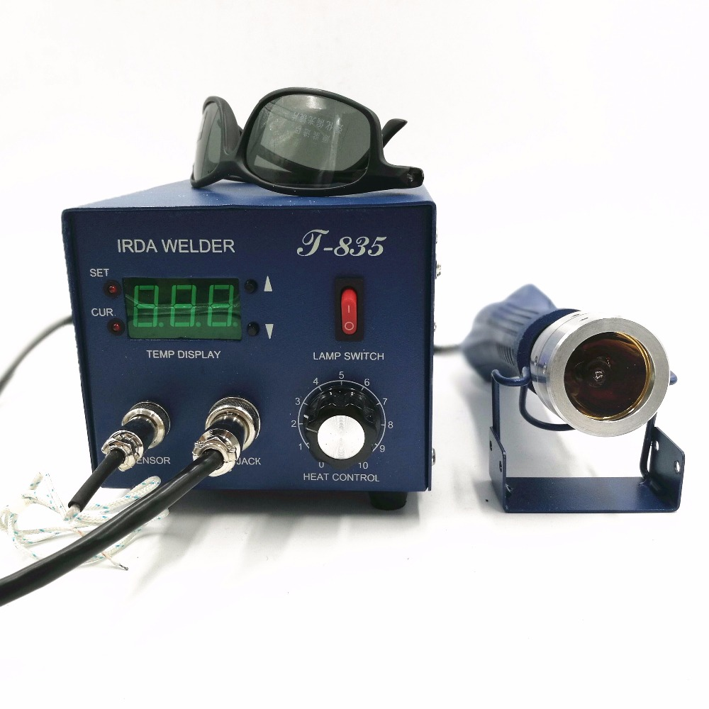 PUHUI 110V/220V T835/ T-835 Infrared BGA Soldering and Desoldering SMD Rework Station BGA IRDA WELDER hot selling bga welding machine irda welder puhui t862 bga rework station