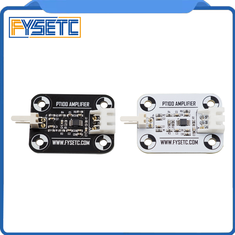 V6 PT100 Amplifier Board Black/White PT100 Sensor High Accuracy Temperature Board Upgrade Amplifier Board 3D Printer Part