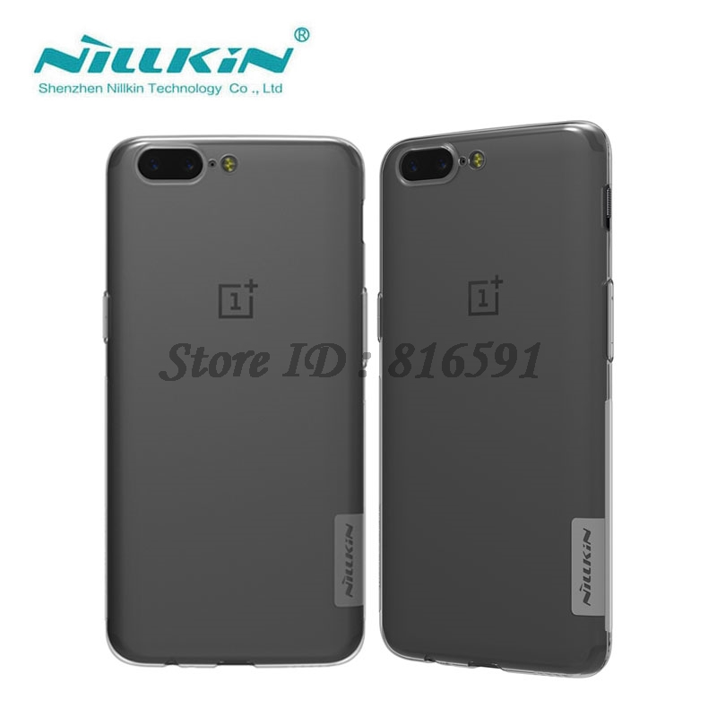 OnePlus 5 Case Nillkin TPU Case for OnePlus 5 Nature Series Transparent Clear Soft TPU Cover OnePlus 5 Case Silicon Back Cover