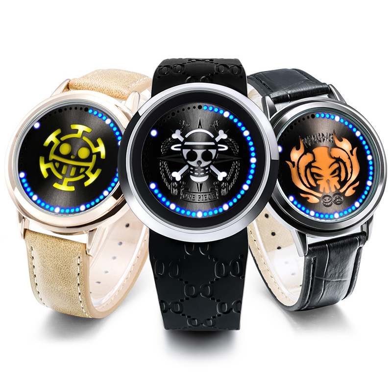 Anime Date A Live Tokisaki Kurumi Led Watch Waterproof Touch Screen Digital Light Watch Wristwatch Cosplay Props Gift New Costume Props