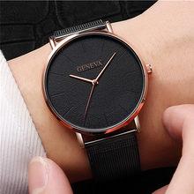 e8b0be6923b Marca de luxo 2018 Dos Homens Relógio Ultra Fino de Aço Inoxidável Relógio  Masculino Relógio Do