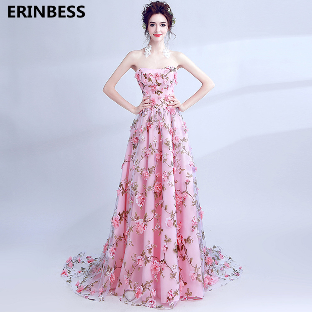 Robe De Soiree   Evening     Dresses   Long   Dress   2019 Tulle Prom Lace-Up Party Gown Sexy Strapless   Evening     Dress   A-lineVestido De Festa