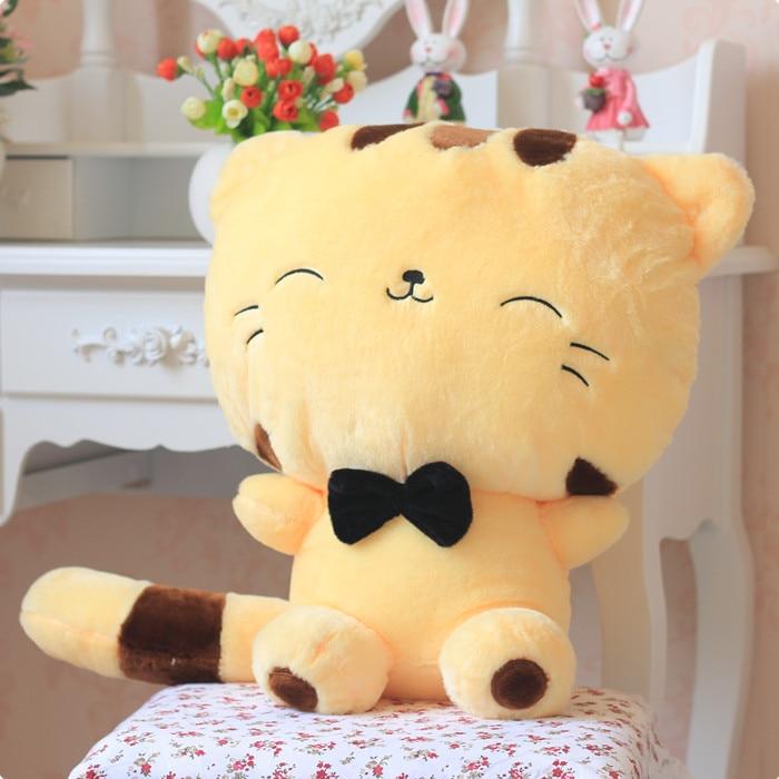 Stuffed Animal Plush 60cm Cute Kitty Light Yellow Cat Plush Toy Soft