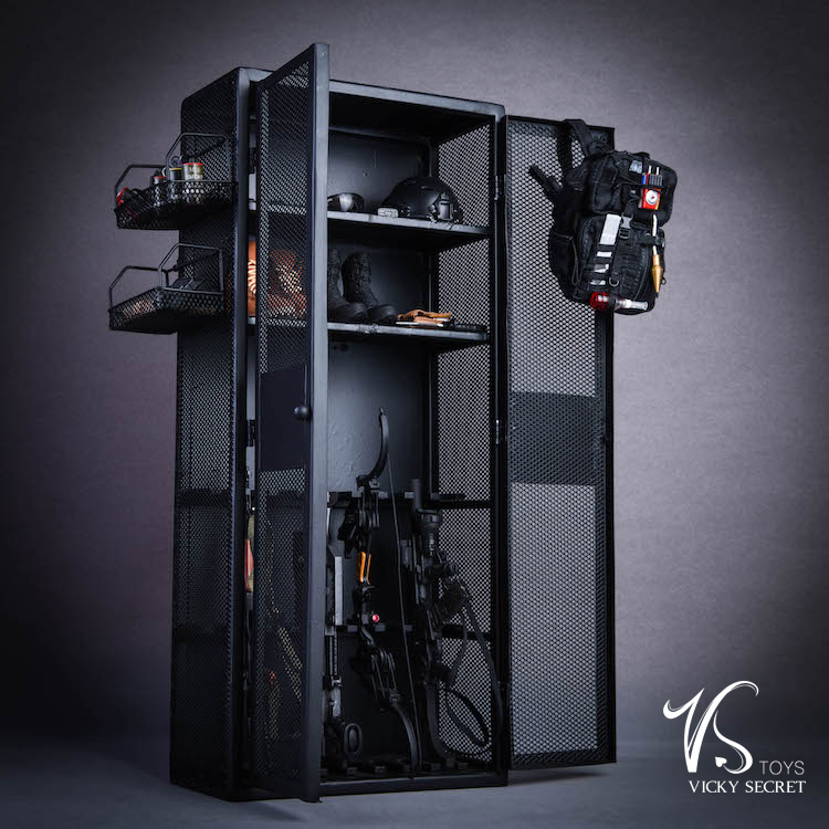 "1//6 Scale Locker Cabinet Model for 12/"" Action Figure Scene Accessories"