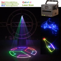 AUCD 500mW /1W DMX ILDA SD RGB Animation Laser Projector Light DJ Party Nightclub Professional Wedding Show Stage Lighting FB SD