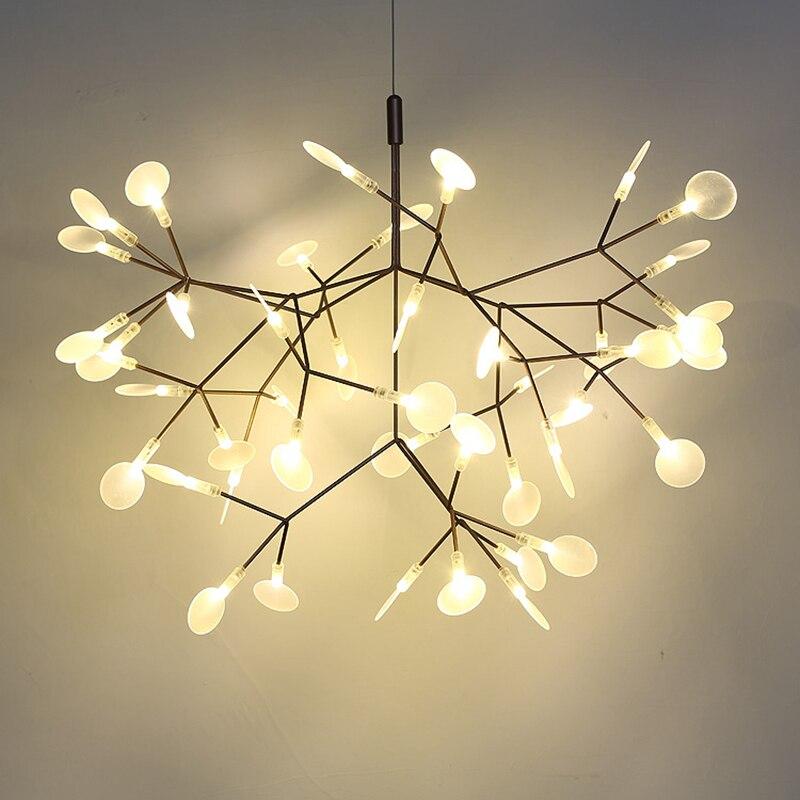 Toolery Post modern LED Lustre Luz Da Árvore ramo da técnica de camadas condutoras Nordic Art Decoração 30/45 cabeça criativa