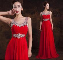 Formale Abendkleider Kleider 2016 Kristall Formale Kleid Chiffon Langes Abendkleid Plus Größe