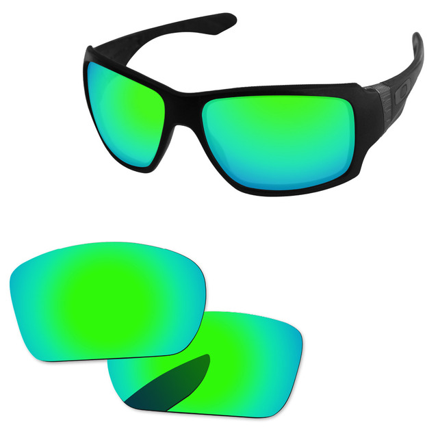 0803f9f0acd Emerald Green Mirror Polarized Replacement Lenses For Big Taco Sunglasses  Frame 100% UVA   UVB Protection
