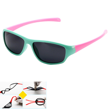 New Kids Polarized goggles baby children sunglasses UV400 sun glasses boy girls cute cool glasses with gift Car Case. KT-25