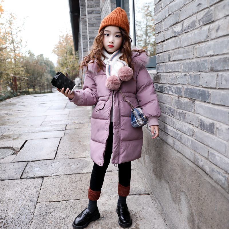 Dollplus 2019 New Girls Long Padded Jacket Kids Winter Coat Kids Warm Thickening Hooded Cotton Coats for Teenage OuterwearDollplus 2019 New Girls Long Padded Jacket Kids Winter Coat Kids Warm Thickening Hooded Cotton Coats for Teenage Outerwear