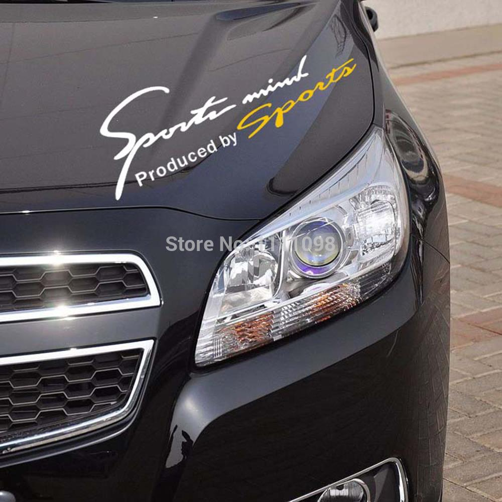 Honda fit car sticker design - 10 X Sports Mind Car Stickers Sports Mind Produced By Sport Car Eyelids Decal For Toyota