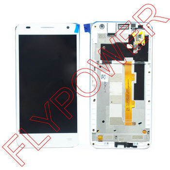 LCD Display +digitizer touch Screen FOR Alcatel One Touch Idol S 6034R OT6034 6034 Assembly with frame White By Free Shipping