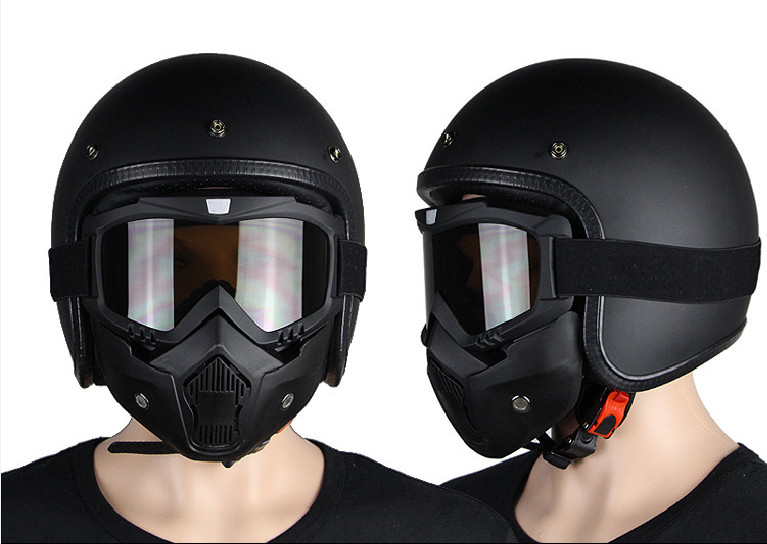 The new for Harley Davidson motorcycle helmet suitable wind and dust protection mask black-in ...