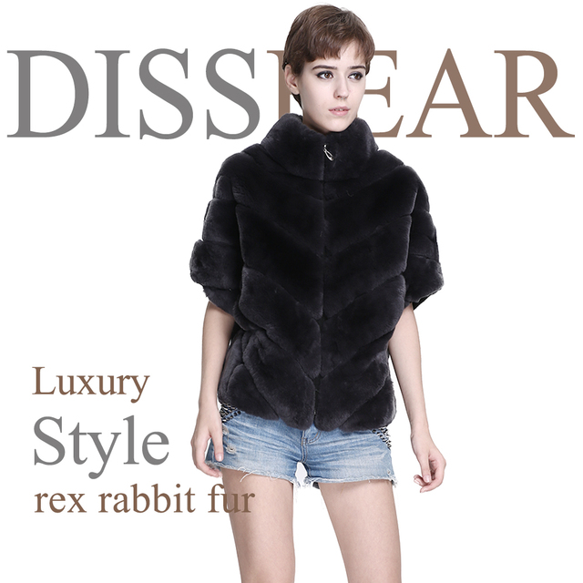 Women Real Rex Rabbit Fur Vest Short Female Winter Genuine Fur Jacket Overcoat Waistcoat Fashion Gilet Ladies Natural Fur Coats