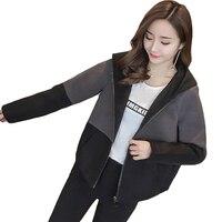 Women Jacket Vogue Zip Up Hoodie Short Design Jacket Coat Hot Loose Spring Autumn Coat Outwear