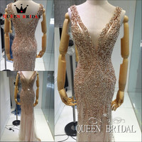 Vestidos De Festa Vestido Longo Celebrity Dresses 2015 Sexy Maternity Dresses Beaded Pearls Luxury Mermaid Dress