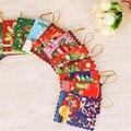 50 unids/lote ornamentos del árbol de Navidad Mini deseando tarjeta de felicitación tarjeta de navidad fuentes de la decoración creativa pequeño regalo de la mordaza juguetes