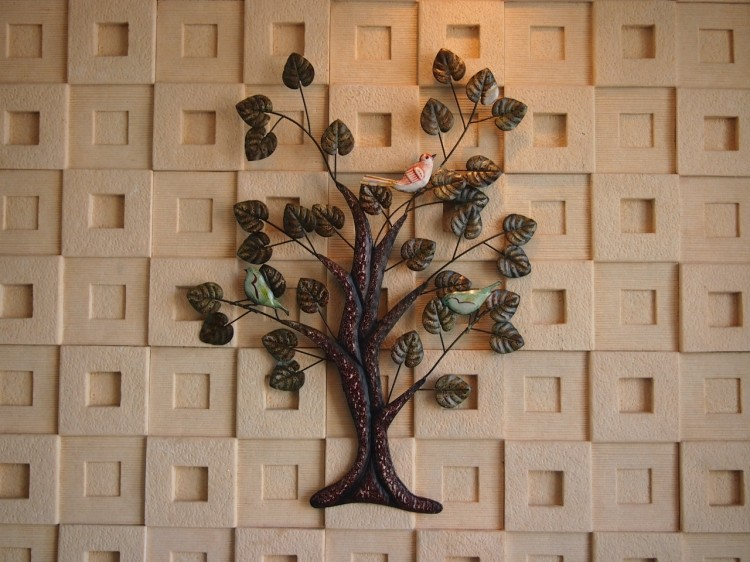 Modern Home Decoration Creative Metal Wall Art Tree and Bird as Wall ...