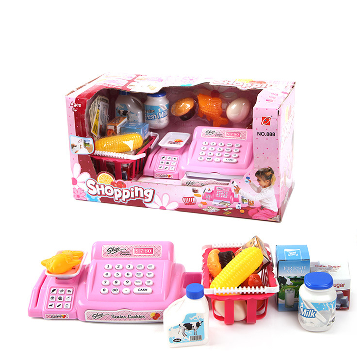 26pcs/set Baby Educational Toy Pretend Play supermarket cash