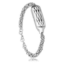 Torotop 2017 Fashion Jewelry Chain Accessory with 316L Stainless Steel Accessory Chain Bracelet Bands For Fitbit Flex 2 Tracker