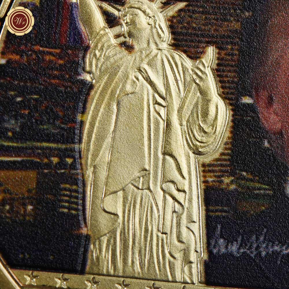 WR 1 Adet Altın Başkan ABD Donald Trump Altın Kaplama Sikke ABD - Ev Dekoru - Fotoğraf 4