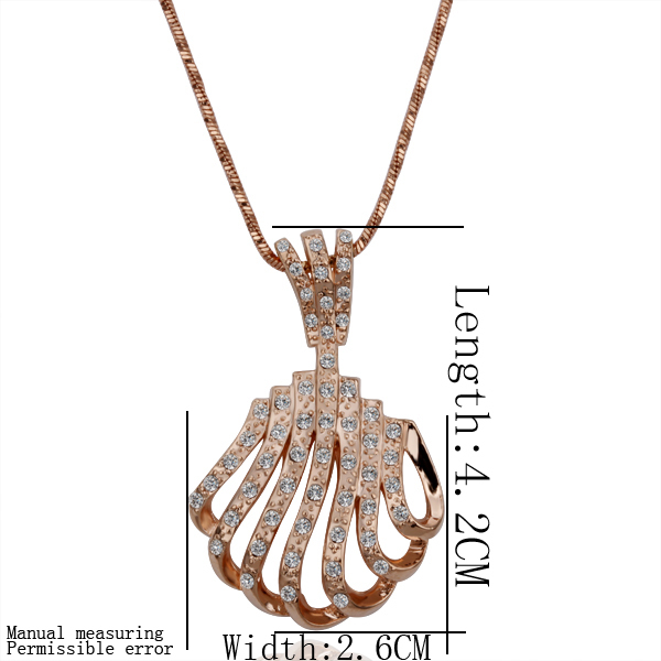 Free shipping 18K GP gold plated jewelry necklace fine fashion fan rhinestone crystal nickel free pendant necklace SMTPN139