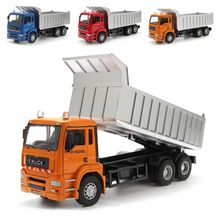 1:32 Масштаб сплава для строительства, самосвал, высокая моделирования транспортная модель автомобиля, инерционный грузовик, мусоровоз