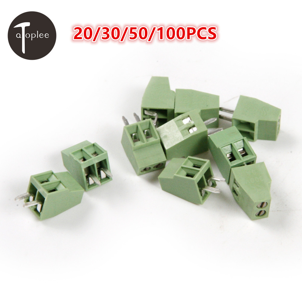 Hot 20/30/50/100pcs 2 Poles/2Pin 2.54mm PCB Universal Screw Terminal Block Connector Free Shipping hot factory direct wholesale idc40 male plug 40pin port header terminal breakout pcb board block 2 row screw