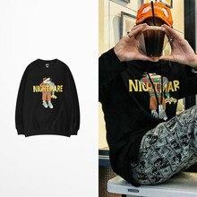 Nightmare Cartoon Print Hoodies Men Streetwear Banana Fish Pullovers Skateboard Hip Hop Twenty One Pilots Sweatshirts