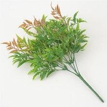 1Pcs 6 Forks Artificial Fern Grass Bouquet Leaf Simulation Autumn Pteris Leaves Home Garden Phoenix Decoration M18