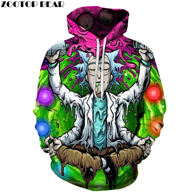 b7360ce2 Rick And Morty 3D Hoodies Men Sweatshirts Comic Colorful Hoodie Funny  Tracksuits Brand Pullover Male Hoodies