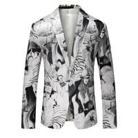 2019 New High end Mens Printed Suit High Quality Banquet Party Men Leisure Suits Jacket Large Size 5XL Slim Fit Blazers Men