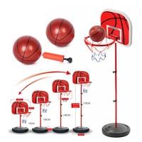 Adjustable Kids Mini Basketball Stand Backboard Goal Hoop Rim Net Set Toy with Basketball Ball Pump for Children Boys Training