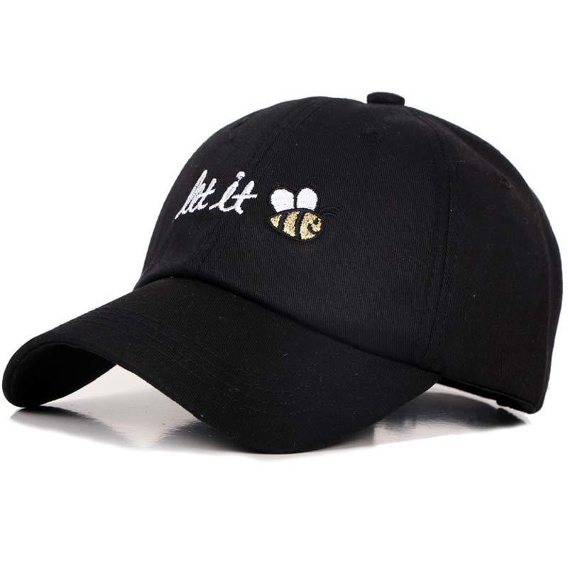 Bordir Topi Ayah Teks Biarkan Lebah Pria Wanita Musim Panas Topi Baseball  Snapback Keren Melengkung Bill ab0c9bab79