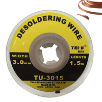 5FT 1.5M 3 mm BGA Desoldering Wire Braid Solder Remover Wick Soldering Accessory Metal Color Tin TU-3015