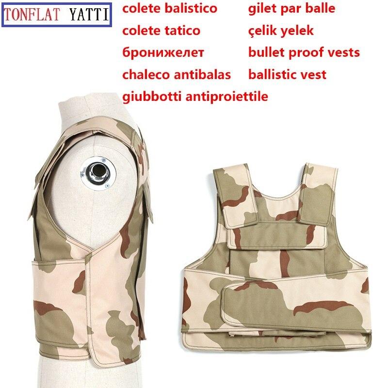 Soft Aramid fiber Army bullet proof Vest nij iiia ballistic tactical plate carrier police swat self-defense Real Military vest