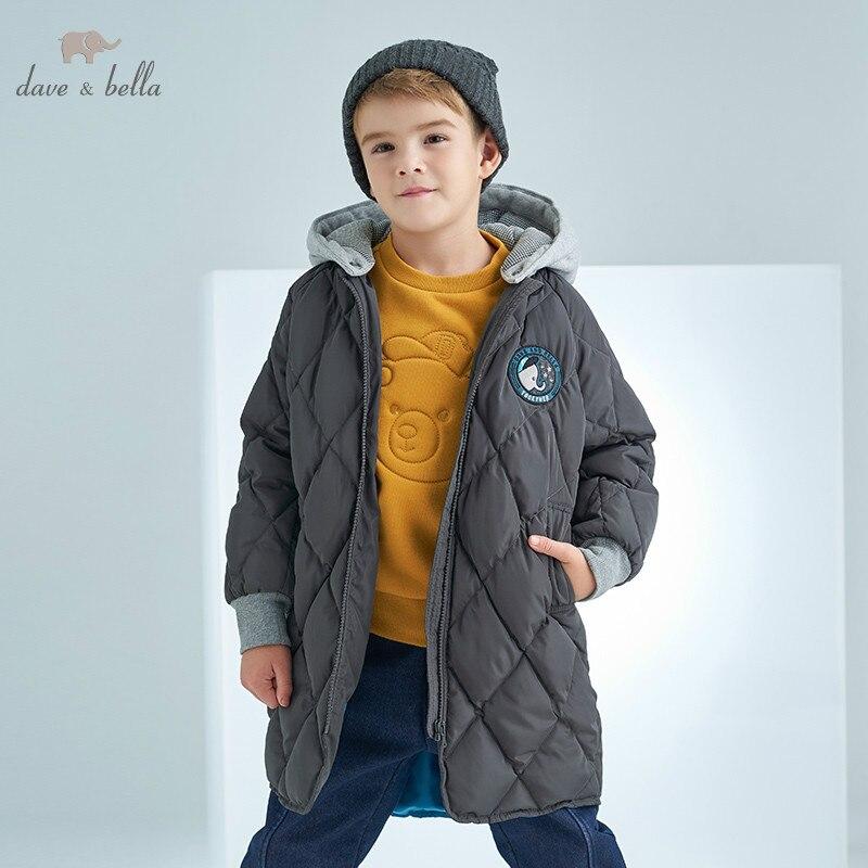 DBK8325 dave bella winter kids 5Y-13Y down jacket children white duck down padded coat boys hooded outerwear цена