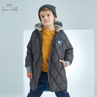 DBK8325 dave bella winter kids 5Y 13Y down jacket children white duck down padded coat boys hooded outerwear