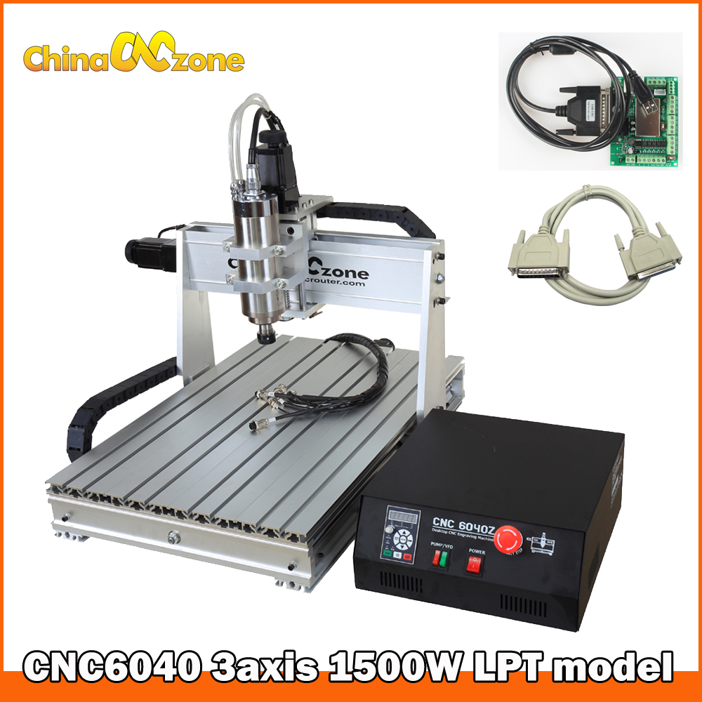 Cnc Router 6040 1.5KW Engraving Machine 3axis Milling Carving Router for Woodworking Hobby Milling Engraver Cooling System eur free tax cnc 6040z frame of engraving and milling machine for diy cnc router