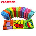 12pcs/set Colorful cloth book High-quality Early education newborn baby toy Rainbow Infant Educational Stroller Rattle Toys