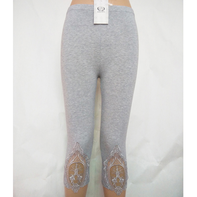 Lace Crochet Capri Leggings