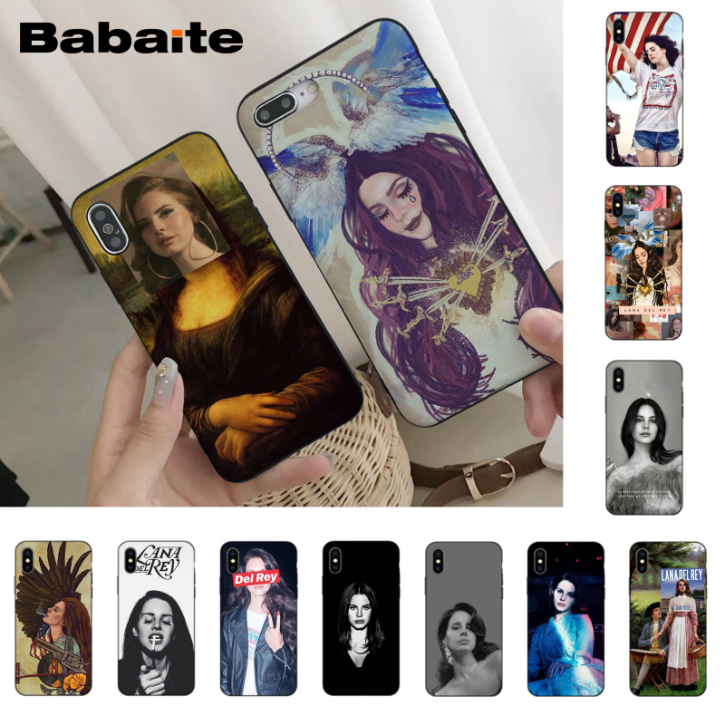 Babaite <font><b>Sexy</b></font> singer model Lana Del Rey Phone Case for <font><b>iPhone</b></font> <font><b>8</b></font> 7 6 6S Plus X XS MAX 5 5S SE XR 10 <font><b>Cover</b></font> Capa11 11pro 11promax image