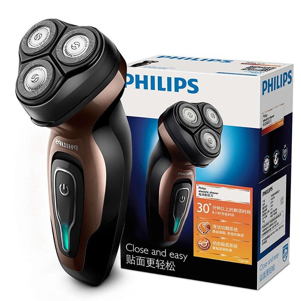 Philips rasoir électrique YQ6188/16 avec autonomie batterie efficace Rechargeable indépendant Triple lame tête visage barbe rasoir pour moi
