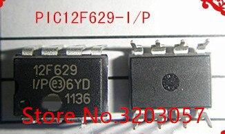 Frete grátis PIC12F629 I/p pic12f629 12f629 50 pc/lote dip ic